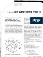 Allowable Pump Piping Loads