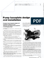Pump Baseplate Design and Installation