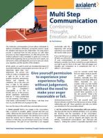 Multi Step Communication Fred Kofman