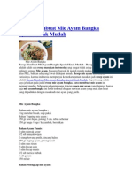 Resep Membuat Mie Ayam Bangka Spesial