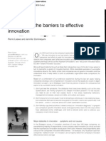 Overcoming the Barriers to Effective Innovation