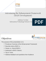 Enhancement Framework Badi Development