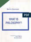 Heidegger What is Philosophy