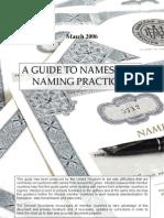 Naming Practice Guide UK 2006