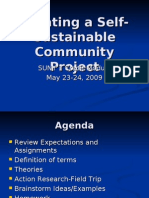 Creating a Self-Sustainable Community Project Saturday