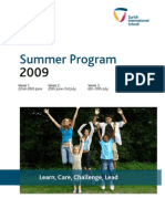 Summer Program 2009 Updated May 15th
