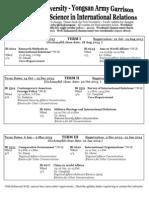 2013-2014 Yongsan AG Schedule