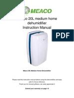 Meaco 20L Medium Home Dehumidifier Instruction manual_December_2011.pdf