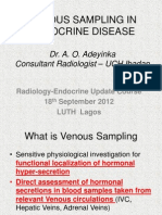 Venous Sampling in Endocrine Dx