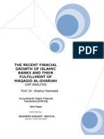 islamic finance and their financial growth verses their maqasid al-shariah