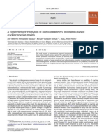 A Comprehensive Estimation of Kinetic Parameters in Lumped Catalytic Cracking Reaction Models