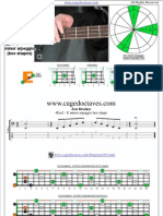 EDCAG4BASS E minor arpeggio box shapes