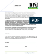 D-Fy Confidentiality Agreement