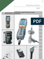 Testo Analizadores de Gases de Combustion Catalogo Instrumentos de Medicion Para Productos de La Combustion y Emisiones Testo 510405