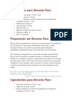 Ingredientes Para Brownie Raw