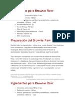 Ingredientes Para Brownie Raw