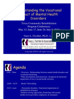 Understanding the vocational impact of mental health disorders.