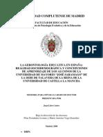 LA GERONTOLOGÍA EDUCATIVA EN ESPAÑA