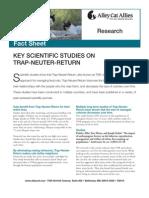 Key Scientific Studies on Trap-Neuter-Return