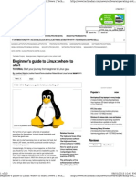 Beginner's Guide to Linux Where to Start