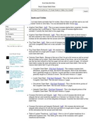 Pauls Online Math Notes Integral Laplace Transform We should however get the same result. pauls online math notes integral