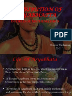 Contribution of Aryabhatta