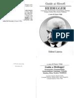 Volpi Franco, Guide Ai Filosofi Heidegger a Cura Di Franco Volpi