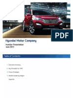 Hyundai Motor Company. June 2013 Investor Presentation