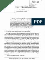 Volpi Franco, Hermenéutica y filosofía práctica