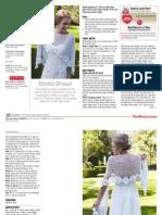Bridal shawl crochet
