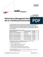 Performance Management Services for AIX in a Partitioned Environment