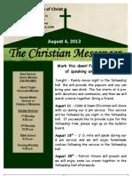 August 4 Newsletter