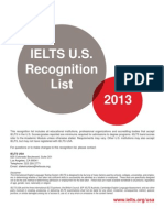 IELTS USA Recognition Feb 2013