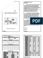 F-18 Pilot Check List