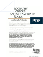 Petrography of Igneous and Metamorphic Rocks by Anthony r. Philpotts
