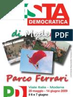Festa PD Parco Ferrari 2009