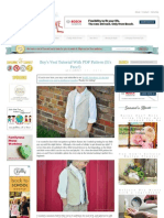 Boy's Vest Tutorial With PDF Pattern