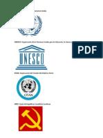 Onu, Unesco, Otan, Urss Significado Con Imagen