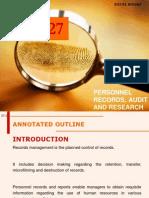 Personnel Audit & Research 2013