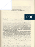 Identidad Narrativa-Paul Ricoeur