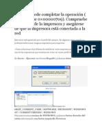 0×00000709 al predeterminar impresora