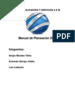 Manual de Planeacion Comercializadora AM