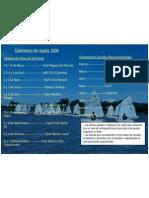 Calendario de regata  2009
