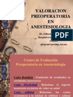 Valoracion Preoperatoria en Anestesiologia 2004