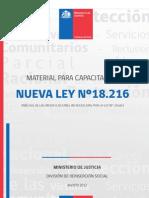 Material Para Capacitacion Ley 18216, Modificaciones Ley 20603