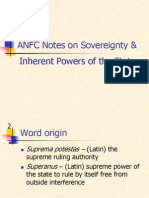 ANFC Notes on Sovereignty & State Powers