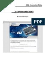 DE2 Web Server Appnote