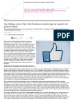 The Writing on the Wall_ How Facebook is Destroying Our Capacity for Political Debate