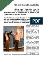 Nota de Prensa censurada en Salamanca