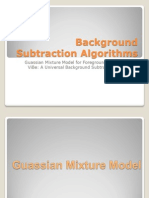 Background Subtraction Algorithms